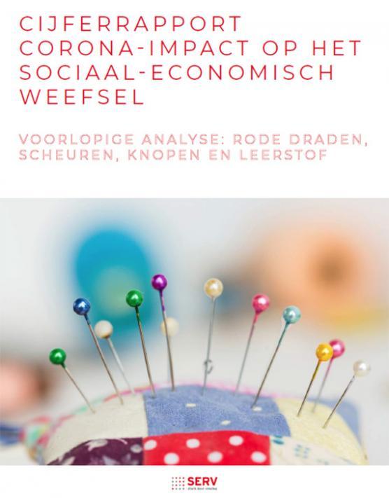 Cover Rapport SERV - Impact corona op het sociaal-economisch weefsel