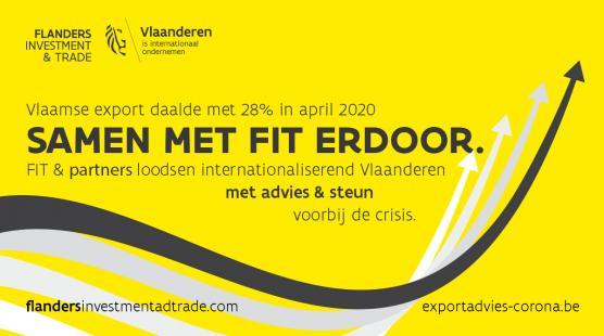 Vlaamse export keldert met 28% in april 2020