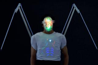 The 'Fashion on Brainwaves' collection features garments that light up depending on the wearer's mood and brain activity.