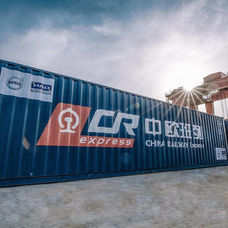First China-built Volvo S90 sedans arrive in Zeebrugge via ground-breaking rail link