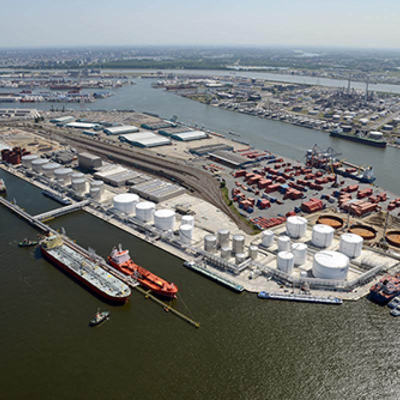 Seatank terminal at Hansadok, Port of Antwerp