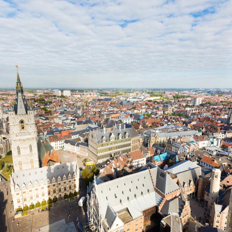 Skyline Ghent, Belgium