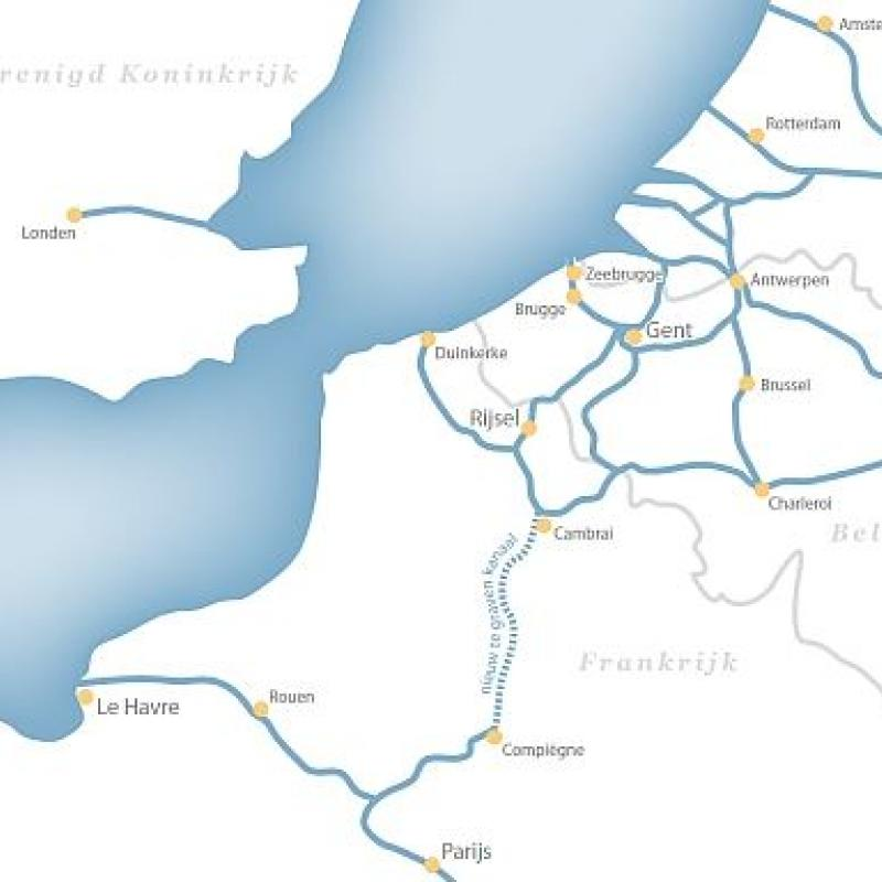 The French government moves forward with the plan of connecting the Seine and the Scheldt rivers.