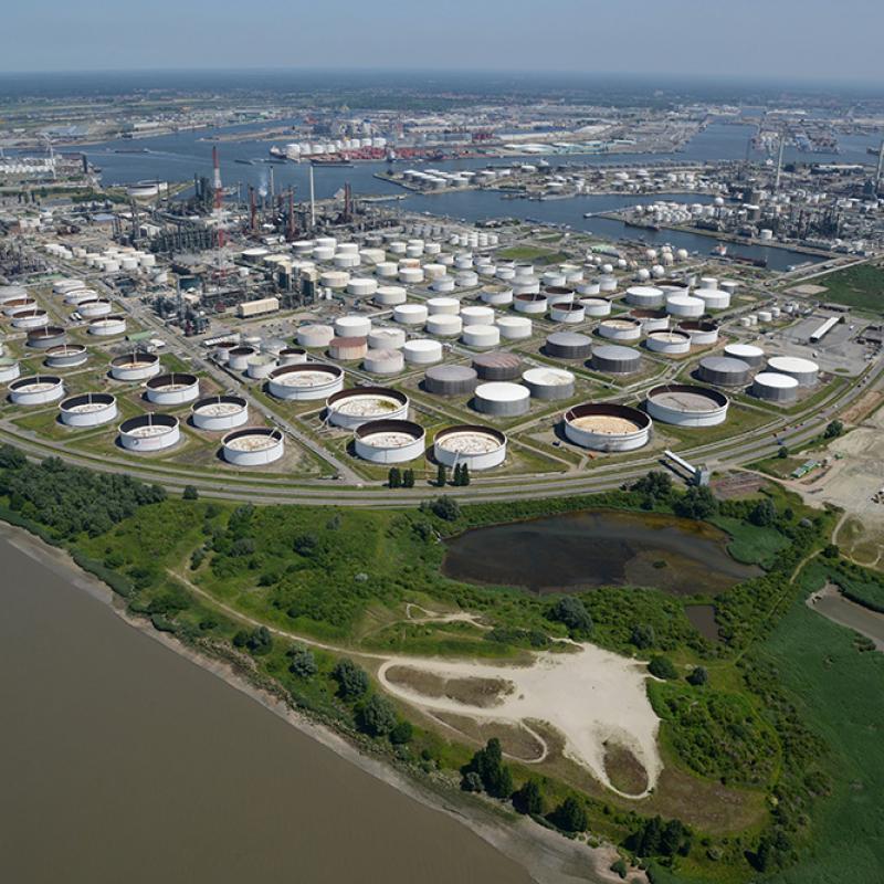 Total refinery, Port of Antwerp