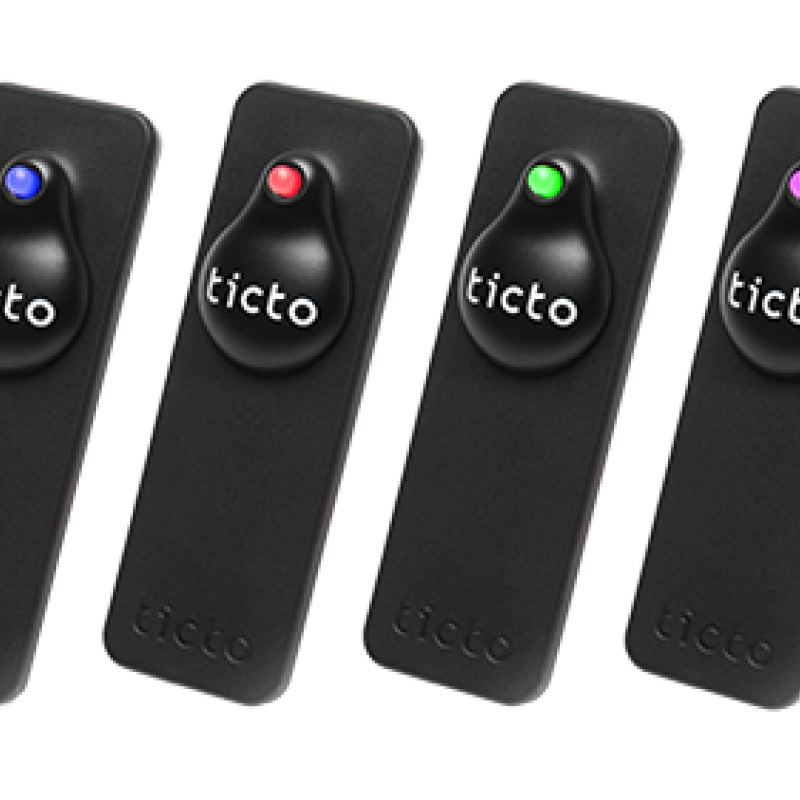 The Ticto pin, a security wearable