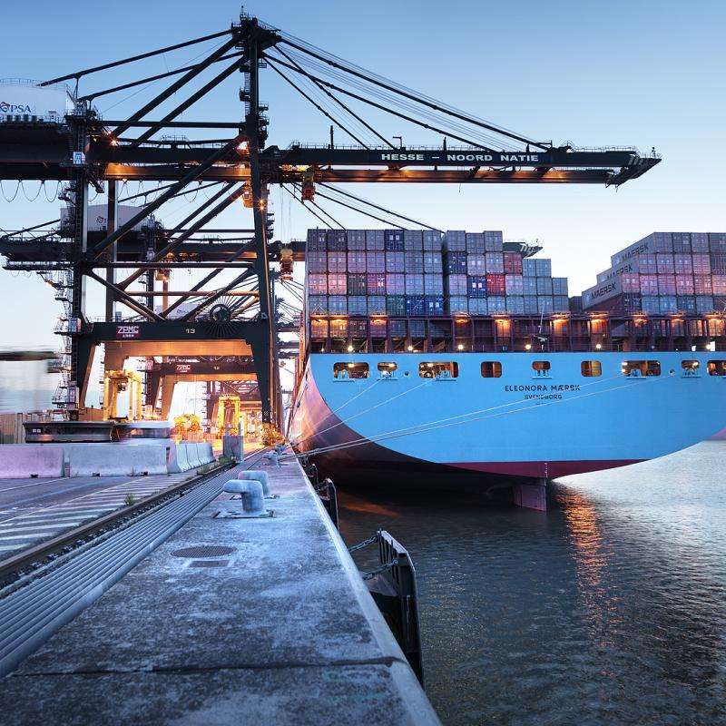 Ship in the Port of Antwerp