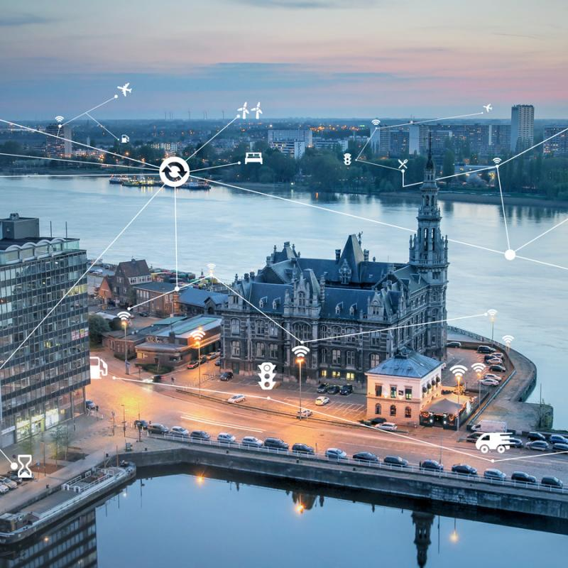 Stadt, Hafen und Universität Antwerpen schmieden eine Allianz mit dem Nanotechnologie-Forschungszentrum imec.