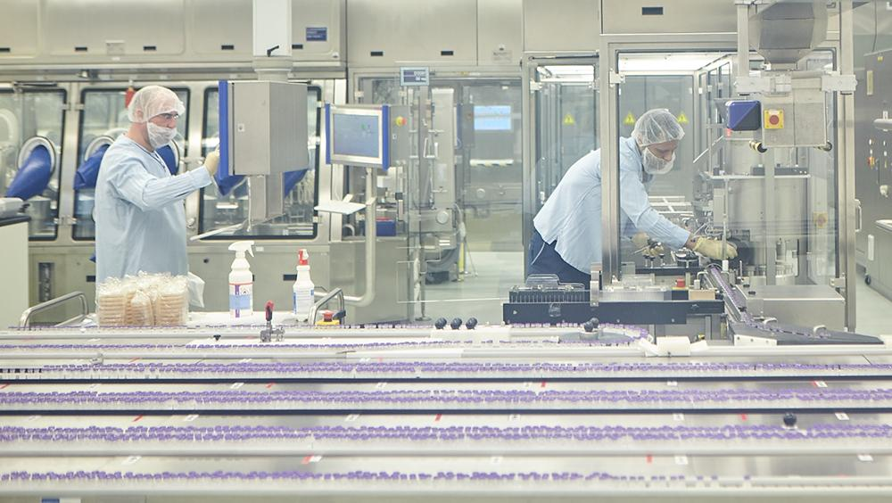 Co-worker in Pfizer plant in Puurs, Flanders-Belgium