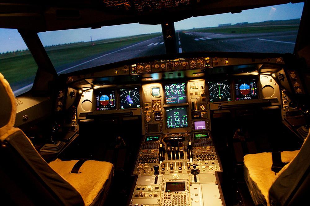 Inside cockpit
