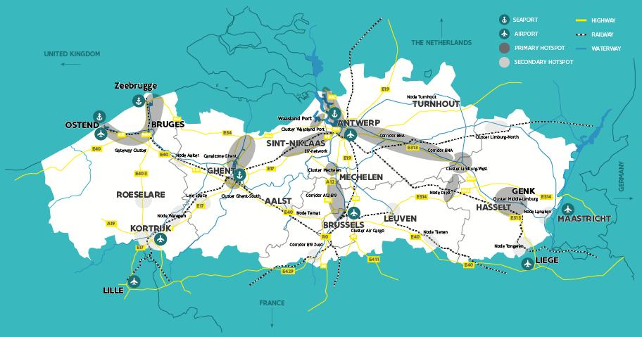 Quando se trata de estabelecer atividades de distribuição ou logística na Europa, a excelente infraestrutura de Flandres oferece muitas vantagens exclusivas.