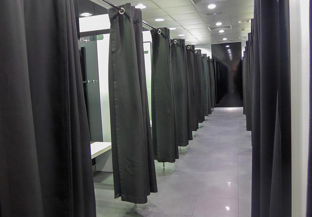 Curtain fitting room