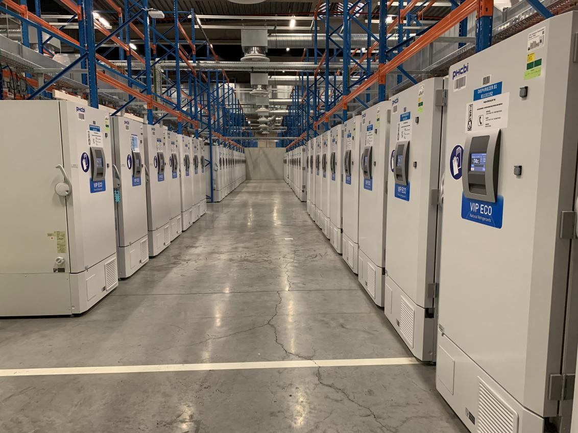 700 vaccine freezers under 1 roof at Pfizer in Flanders