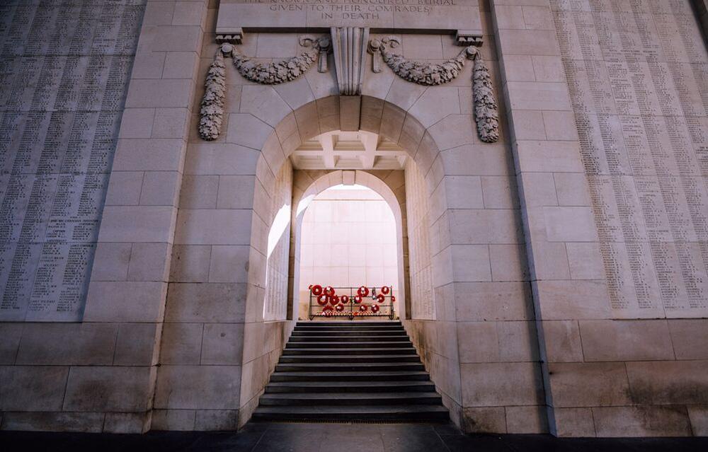 Menin Gate in Ypres (Flanders, Belgium)