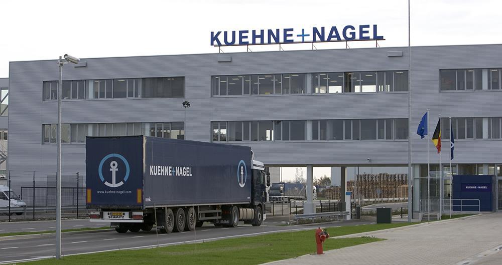 Kuehne + Nagel logistics terminal in Geel, Belgium