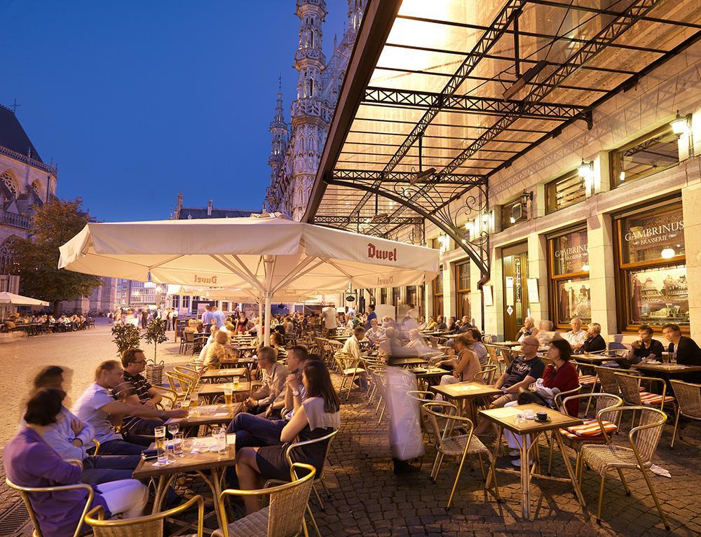 Terrace in Leuven (Flanders, Belgium)