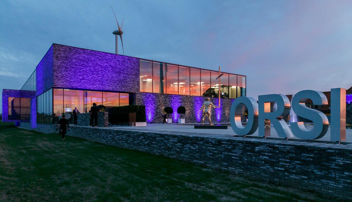Building Orsi Academy in Melle, Belgium