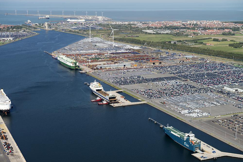 Cars at Port of Zeebrugge, Belgium