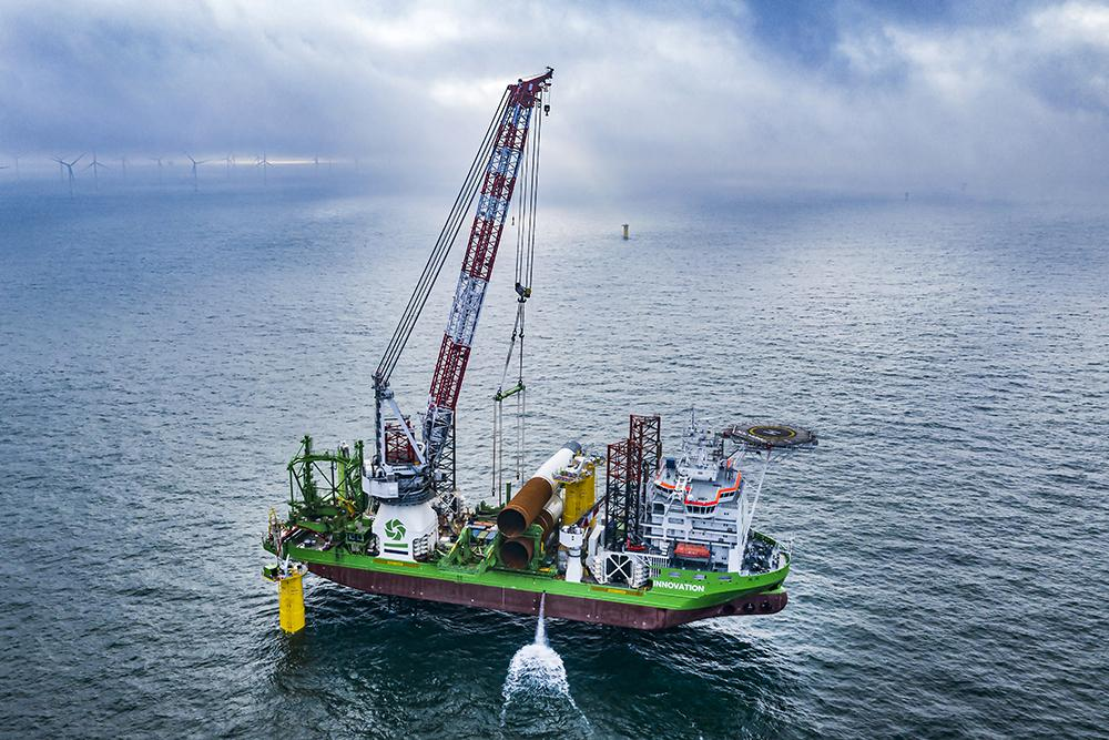 Belgian offshore wind farm SeaMade construction works